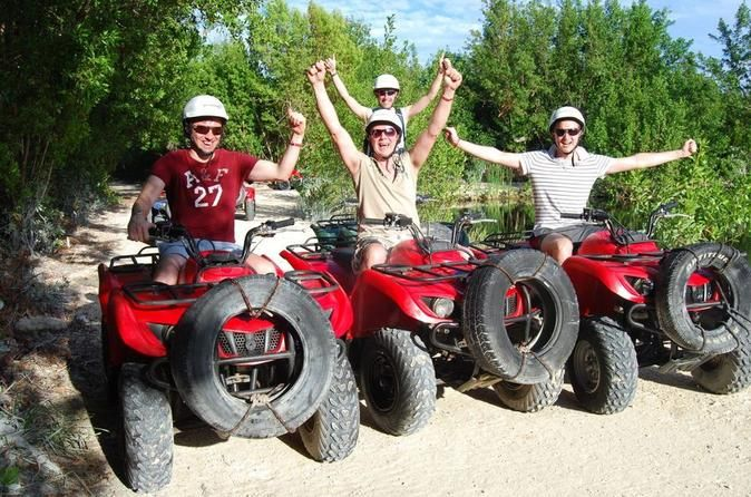 ATV Tour from Cancun 						Start your engines...Are you ready for the ride of your life? You'll have an unforgettable adventure driving your own all terrain vehicle along well-maintained trails through grassland, jungle and mangrove before reaching an idyllic Caribbean beach where you can enjoy a refreshing swim in the crystal-clear waters! 		 								Take a ride on the wild side! Only 45 minutes from Cancun, your fun filled adventure tour begins! Drive your own semi-automatic...