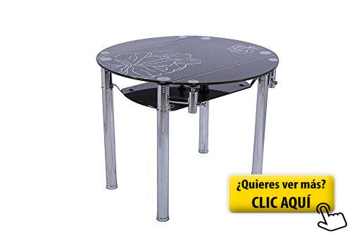 Mesa de comedor circular extensible en cristal... #mesa ...