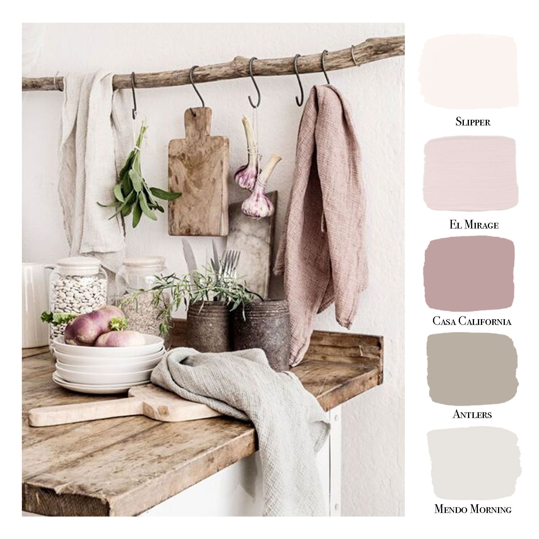Couchtisch Country Weiß Portola Paints / Color Palette / White / Gray / Pink