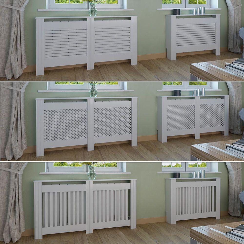 VICCO Heizkörperverkleidung Landhaus Weiß