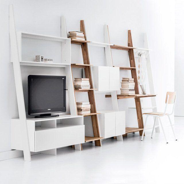 suite meuble tv bureau porte manteau il y a aussi une autre photo montrant une association des. Black Bedroom Furniture Sets. Home Design Ideas