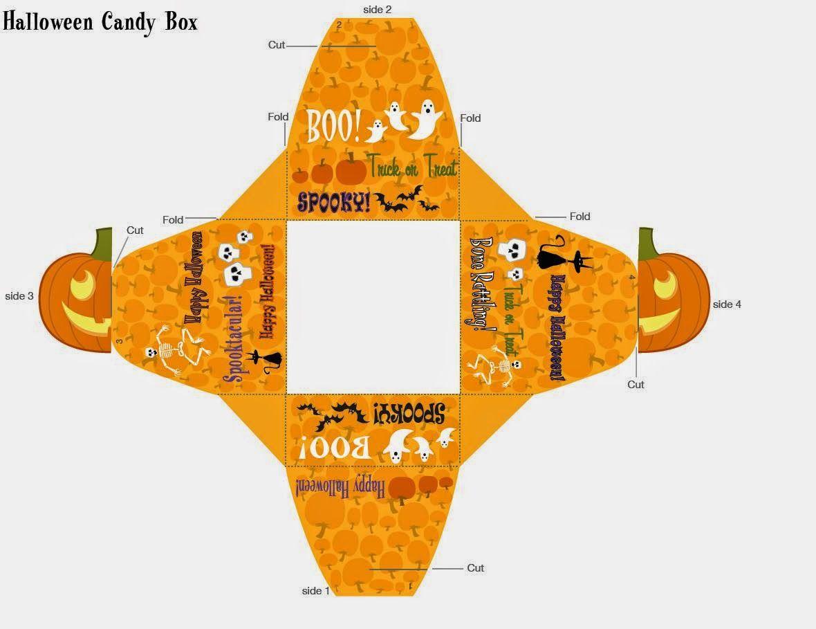 Halloween: Cajas para Imprimir Gratis.