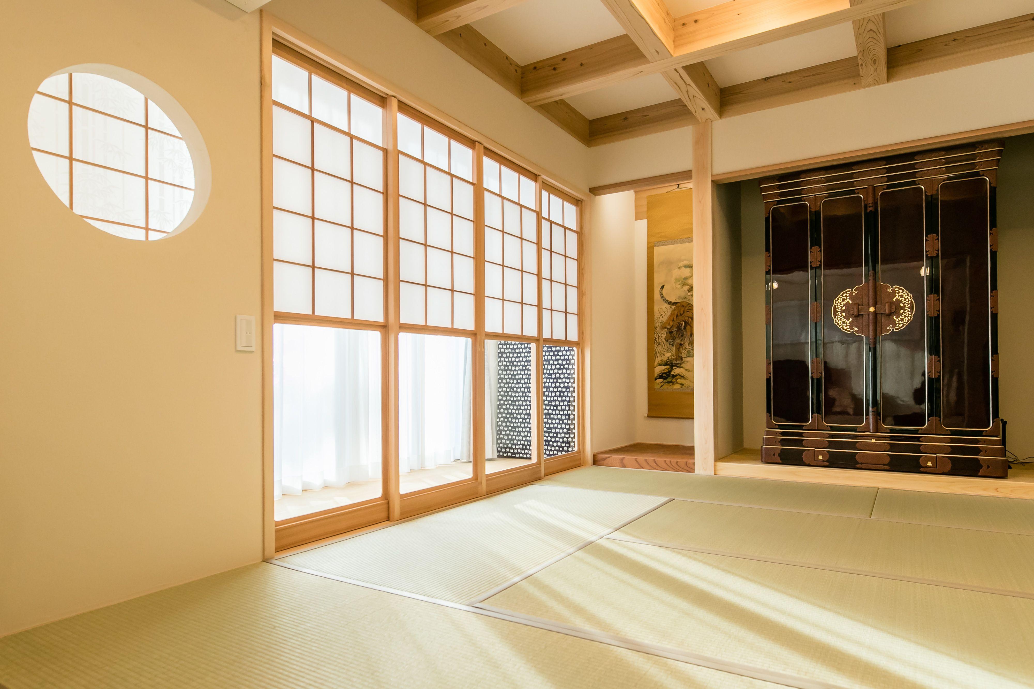 格天井を用いた格式のある仏間 仏間 客間 和室 障子