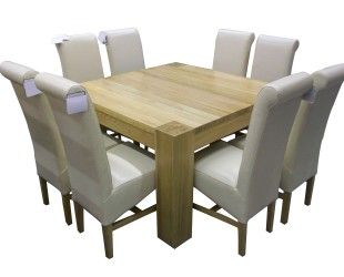 Small Custom Diy Square Wood Dining Room Table Design With White