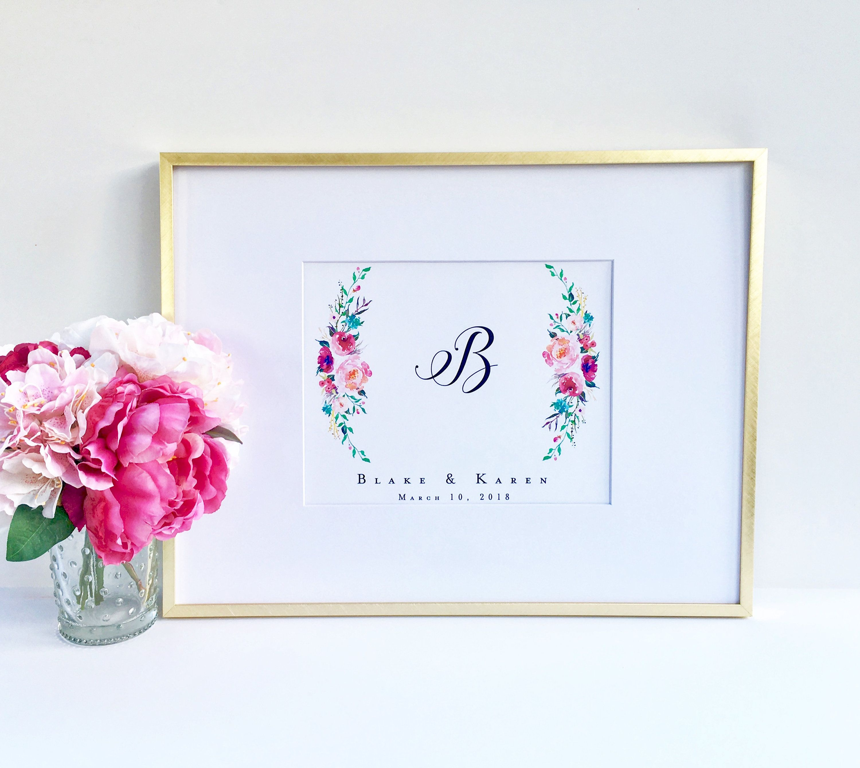 Personalized Wedding Gifts For Couple Floral Print Bride Groom Gift Couple N Personalized Wedding Gifts Personalised Wedding Presents Bride And Groom Gifts
