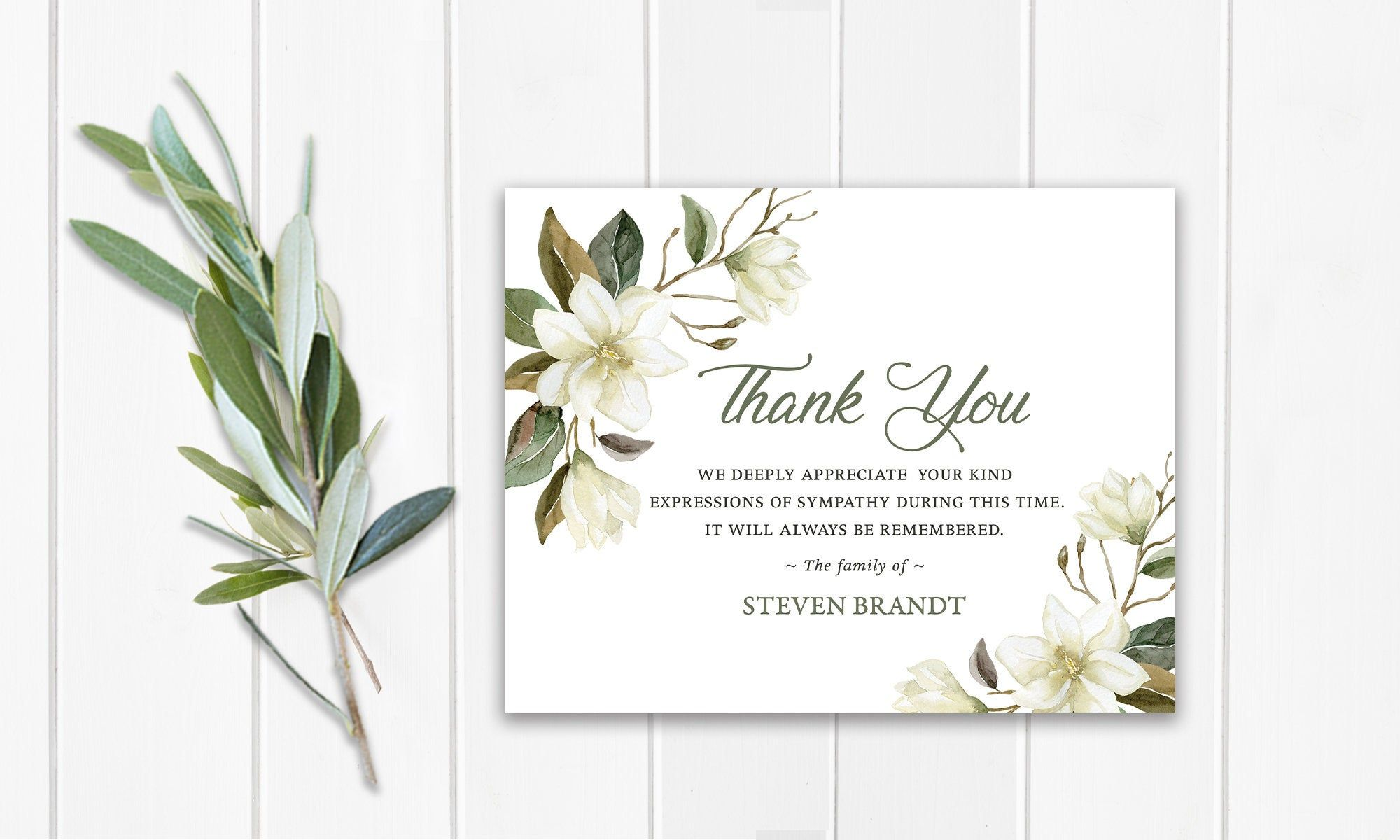 Funeral Thank You Cards Printable Funeral Thank You Notes Etsy Funeral Thank You Cards Funeral Thank You Notes Funeral Thank You