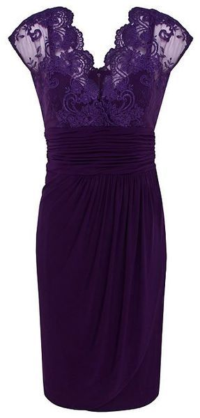 Dark Purple Lace Top Dress