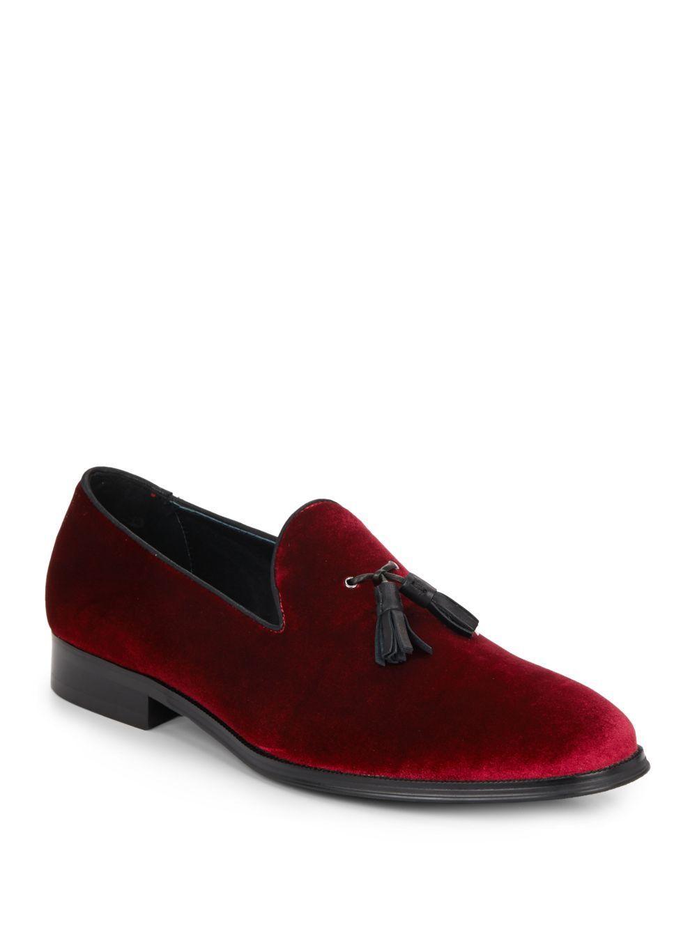 Steve Madden - Red Bway Velvet Loafers for Men - Lyst