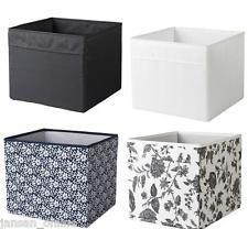 Ikea gopan mini drona storage box fabric wipe clean black - Ikea cajas almacenaje ropa ...