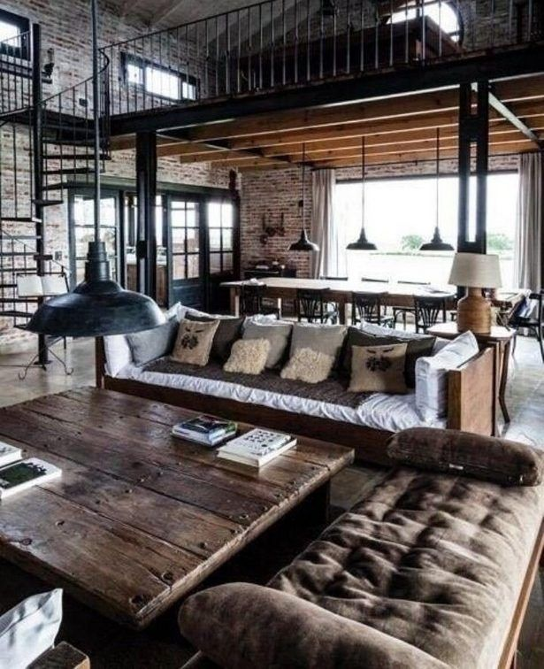 Loft Apartment Living Room Ideas: INDUSTRIAL STYLE: FROM GEEK TO CHIC
