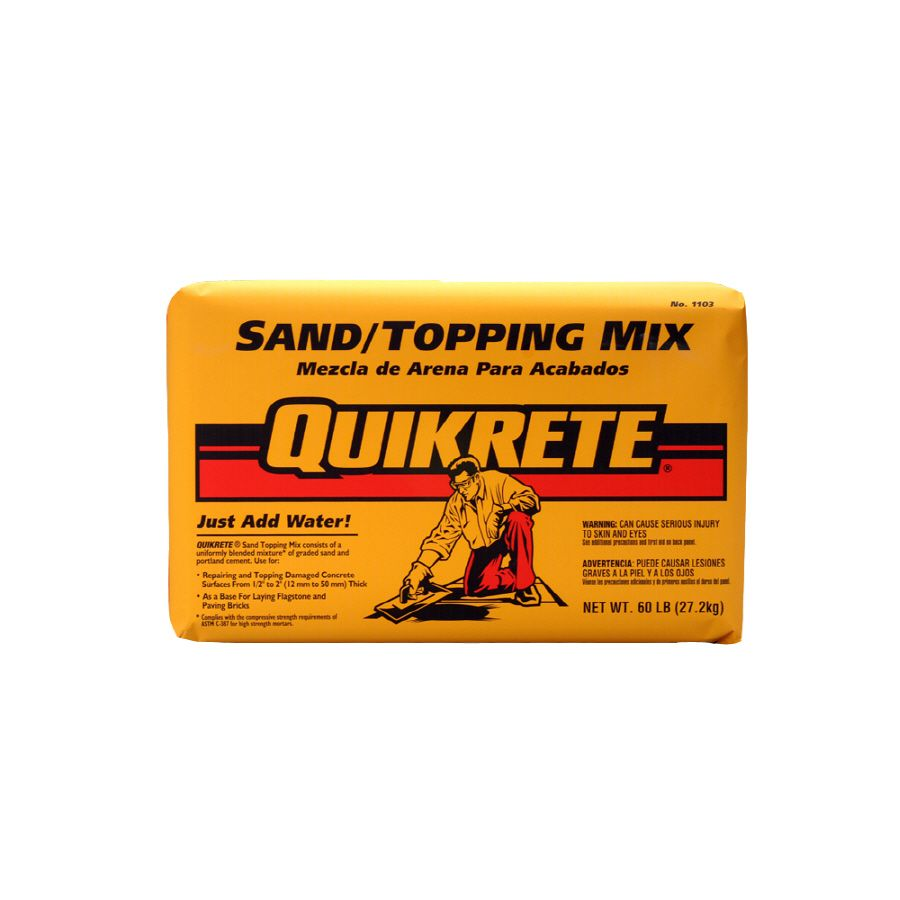Quikrete Sand Topping 60 Lb Gray High Strength Concrete Mix High