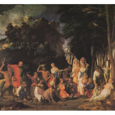 The Feast of the Gods 1514 Canvas Art - Giovanni Bellini (18 x 24)