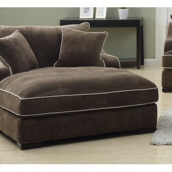 Emerald Home Furnishings Caresse Fabric Chaise Lounge Living Room Chaise Chaise Lounge Chaise Lounge Chair