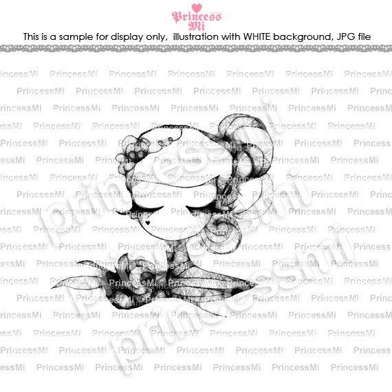 instant download jpg file Digital illustration by princessmihk