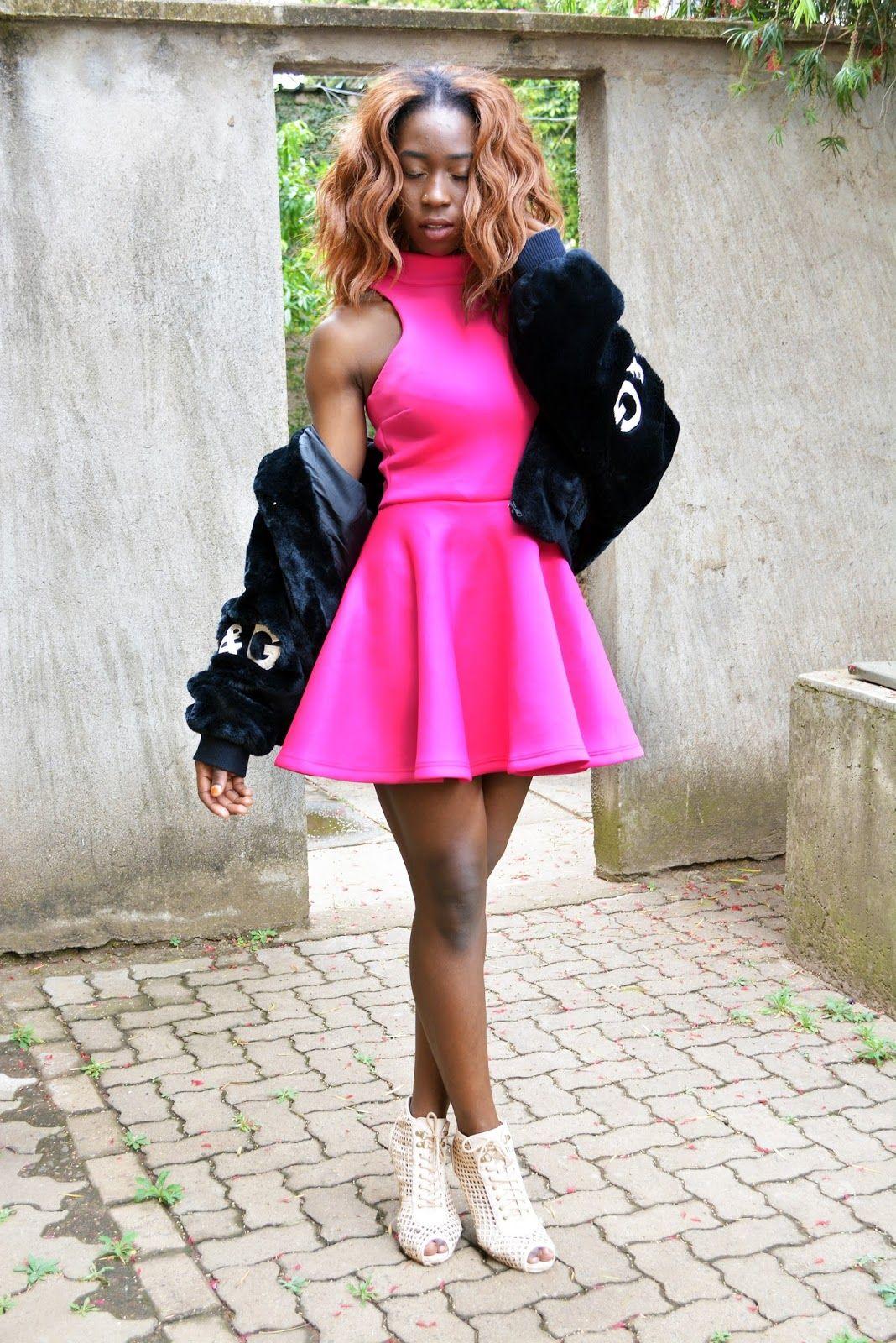 chiffon pink dress kenya wears
