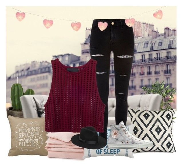 """""""..."""" by chelsealynn03 ❤ liked on Polyvore featuring River Island, Converse, Lack of Color, John Lewis and Lexington"""