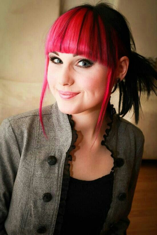 Fringe Pink And Black Hair Red Hair Inspiration Hair Photography