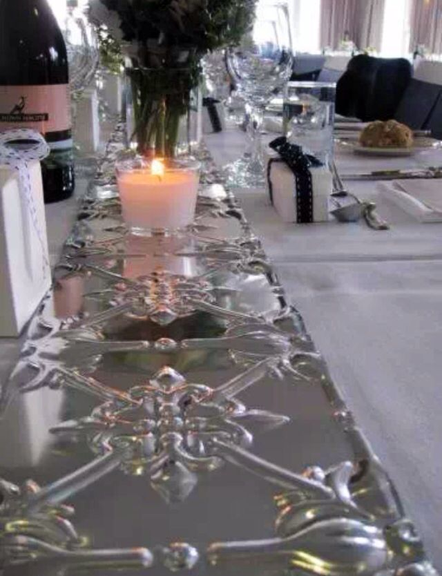 Great Pressed Metal Table Runner