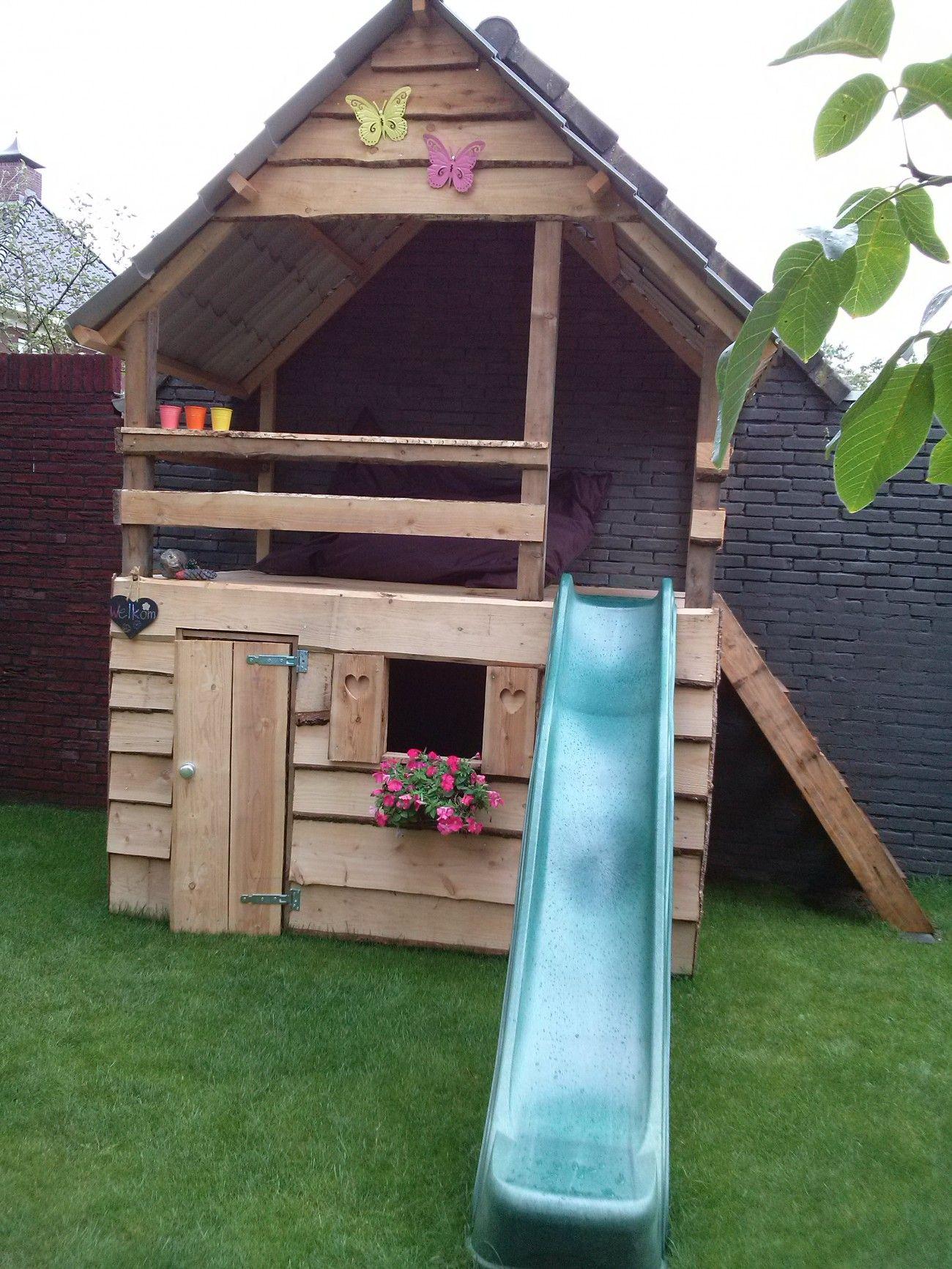 leuk speelhuis building an outdoor playhouse pinterest