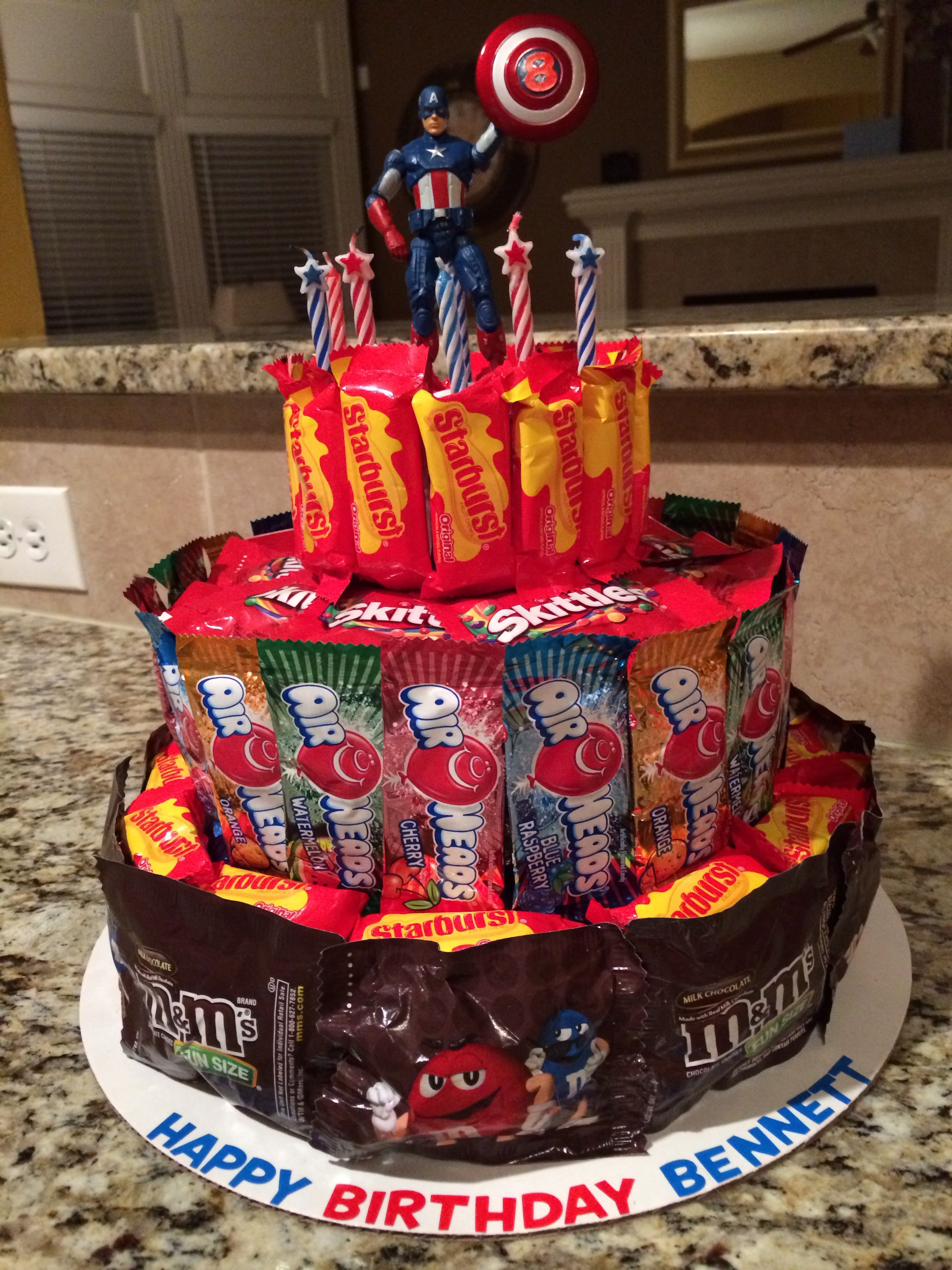 Birthday Cake Made Out Of Candy For A Movie Theater Birthday Kid