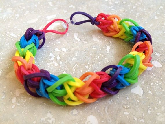 Crazy Loom Rubber Band Bracelets Rainbow