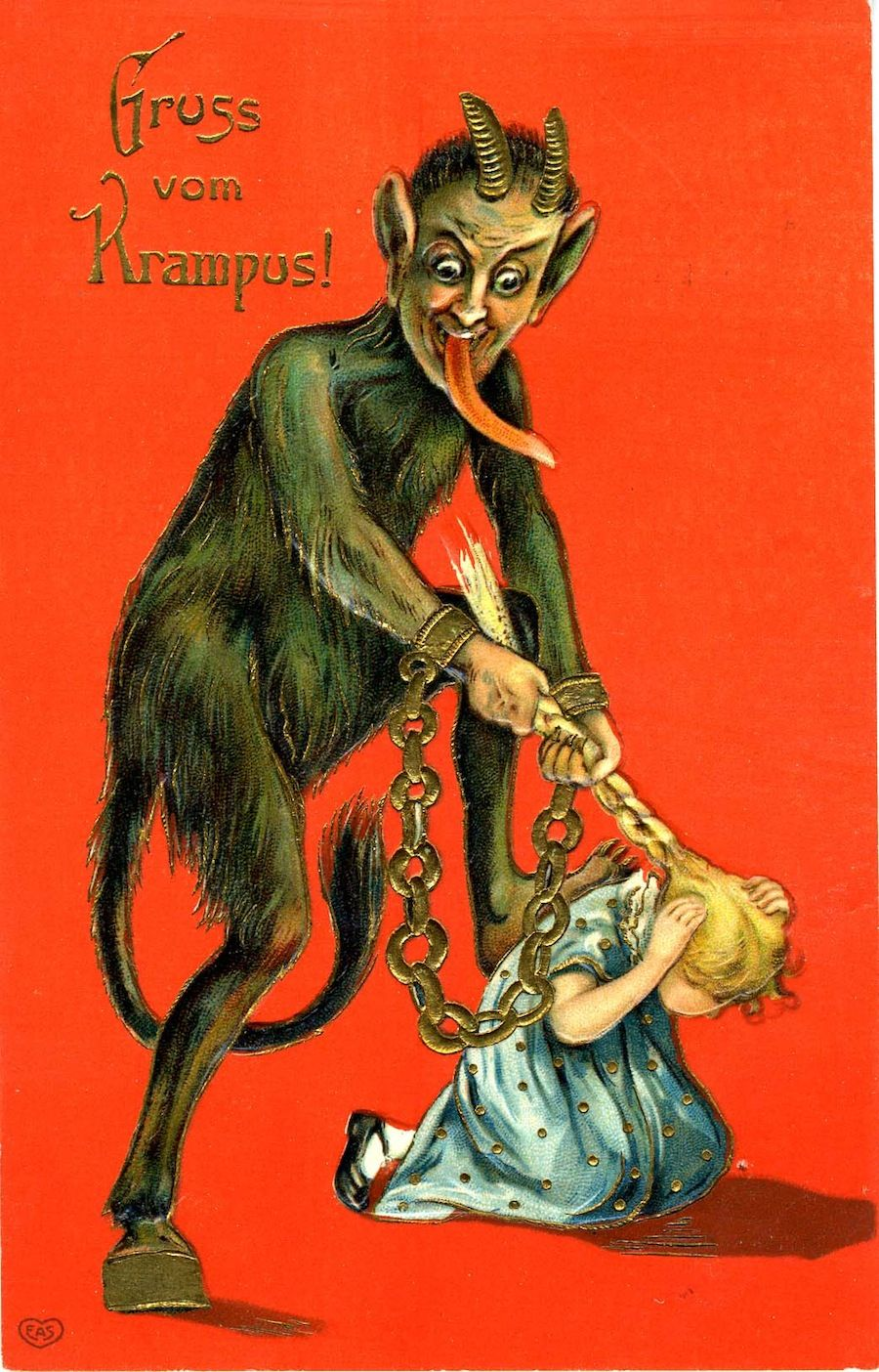 Images: Early Christmas Cards from Krampus to Smoking Santa ...