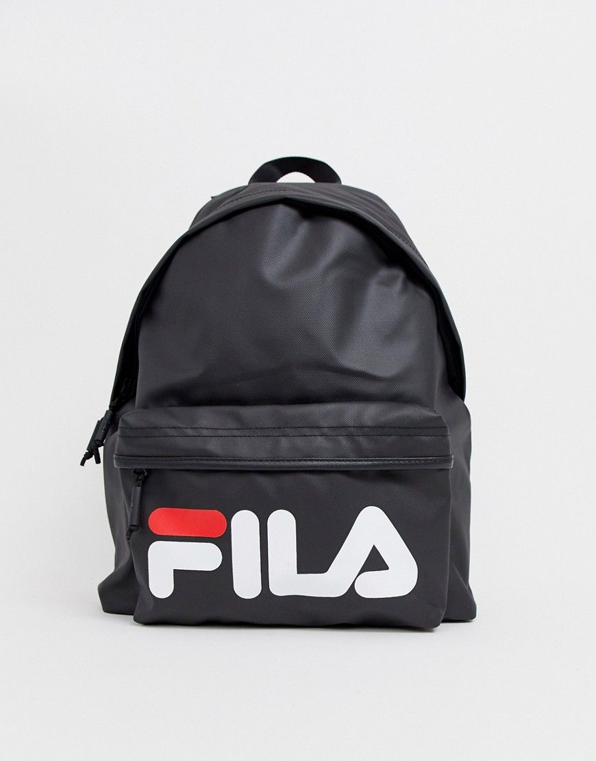 Fila Heron Backpack With Large Logo In Black Black Fila Bags