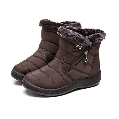 Photo of Women's Boots Snow Boots Flat Heel Round Toe Booties Ankle Boots Classic Daily P…