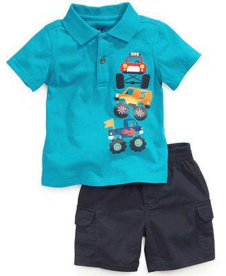 8dba4548 Kids Headquarters Baby Boys' 2-Piece Polo Shirt & Cargo Shorts Set ...