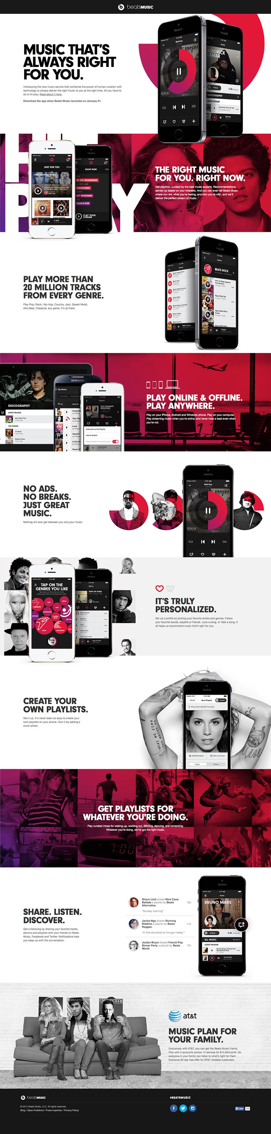 Cool Web Design, beatsmusic. #webdesign #webdevelopment [http://www.pinterest.com/alfredchong/]