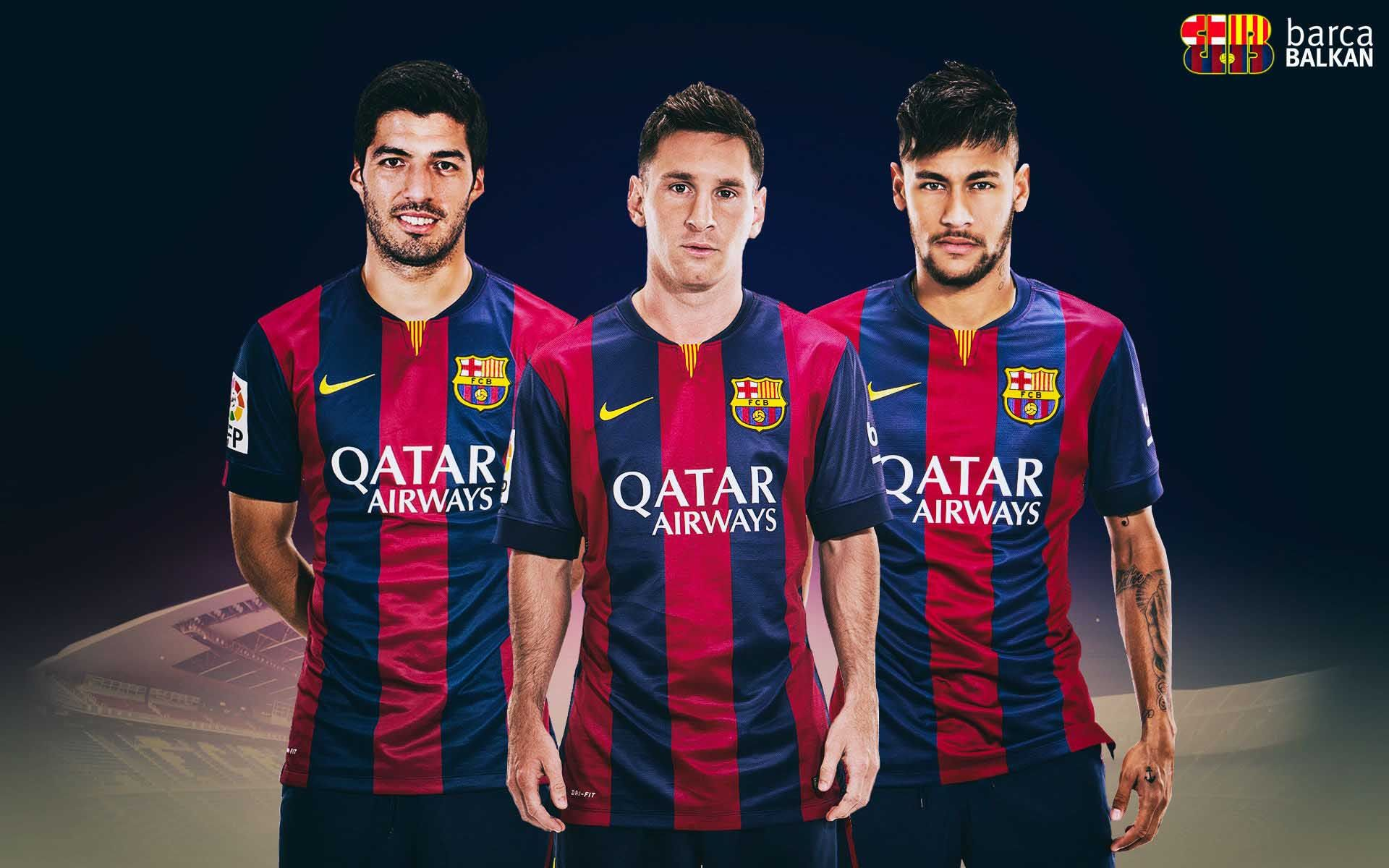 Sport Neymar Suarez Messi Football Players Download Images Wallpaper 1920x1200 Cool Pc Wallpapers Messi And Neymar Neymar Messi