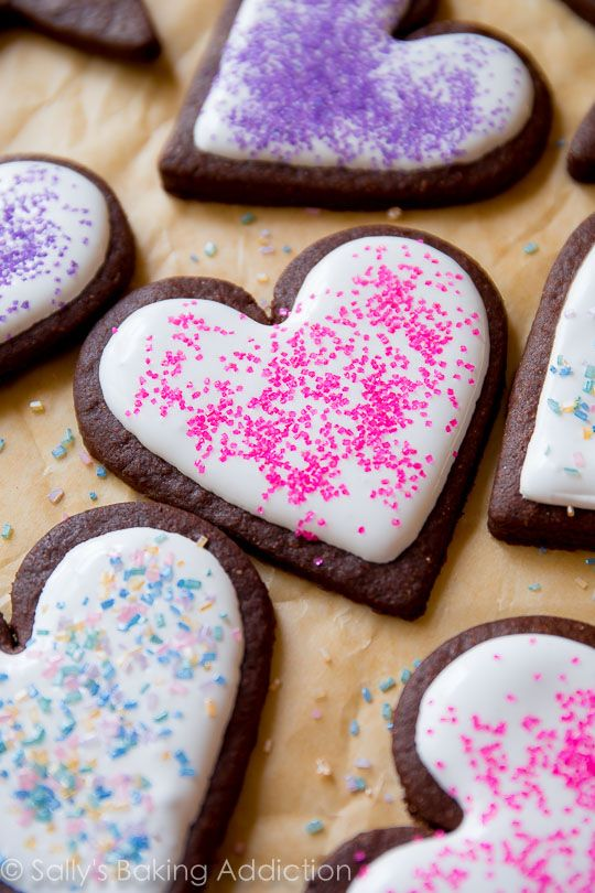 These are the best soft chocolate sugar cookies you will ever make it   an easy recipe and they so fun to decorate on sallysbakingaddiction also rh pinterest