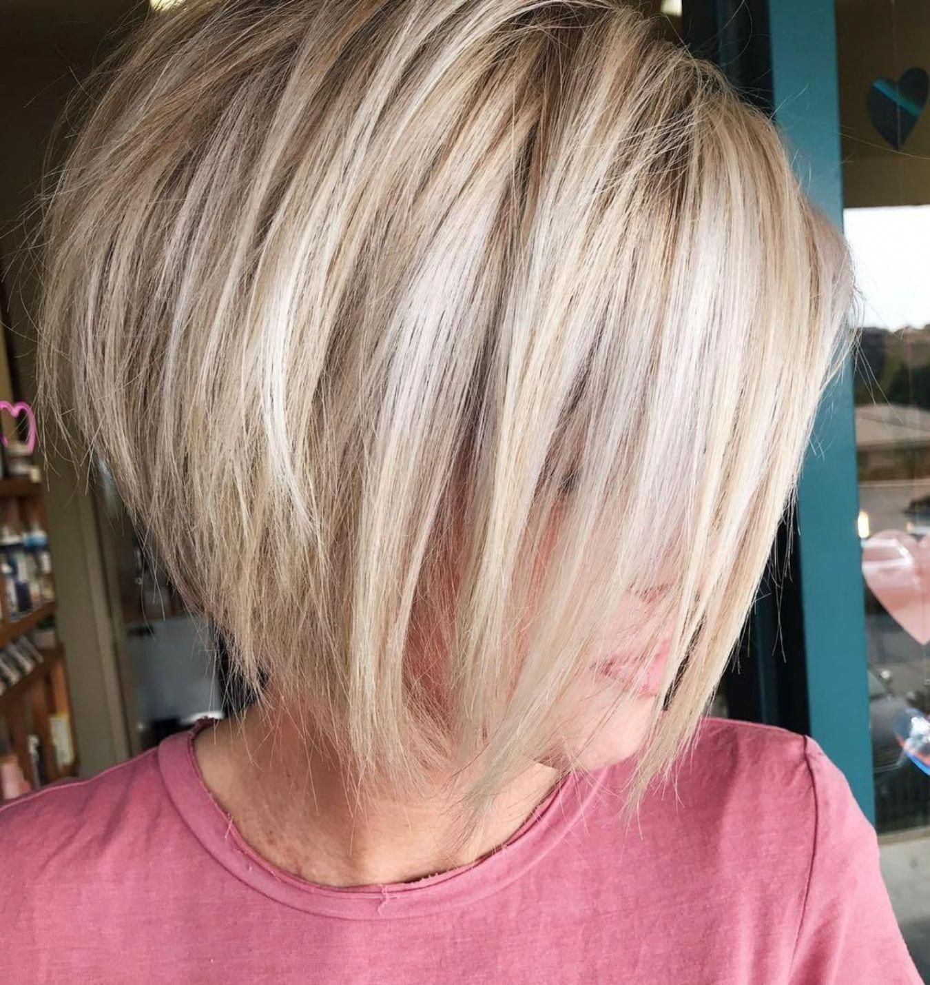 Shaggy Rounded Bob with Teased Roots #Bobhaircut | Choppy bob hairstyles,  Thick hair styles, Short hairstyles for thick hair