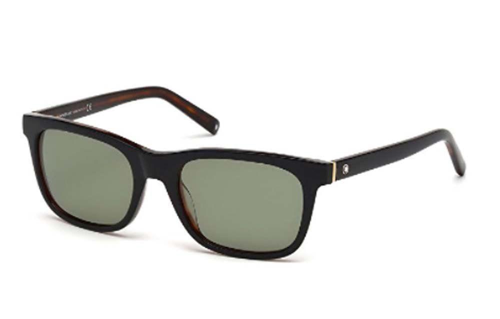 f1092d583b4c Mont Blanc Designer Sunglasses Shiny Black Green 53-19-145 (eBay Link