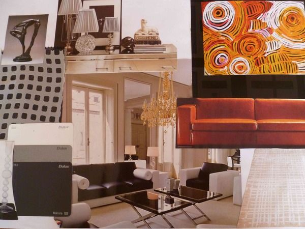 Styling of an appartment. Mood board.