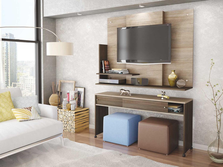Painel Para Tv At 32 Adapt 2 Prateleiras Com As Melhores Condi Es
