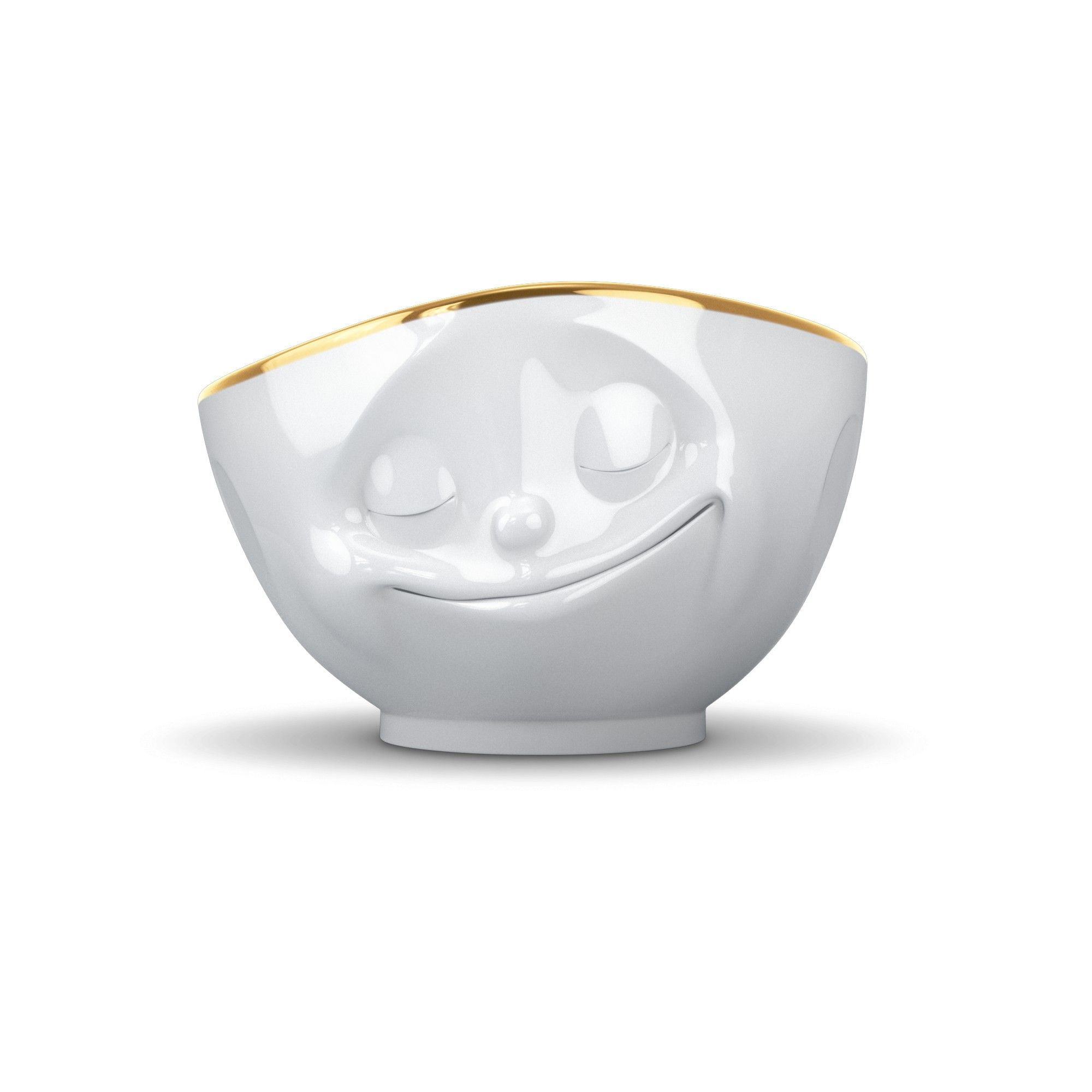 Glad Tassen skål med guldkant