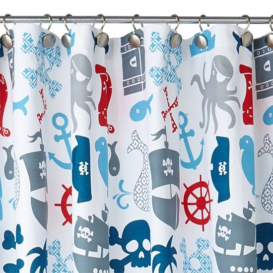 Pirate Shower Curtain From Twinkletwinklelittleone