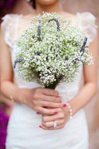 Events Creator Buchet De Mireasa Cu Lavanda Si Gypsophila Wedding