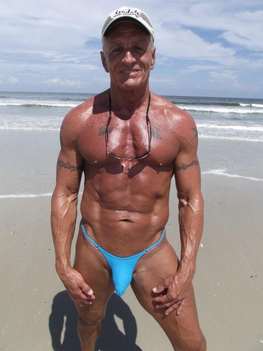 older men in thongs