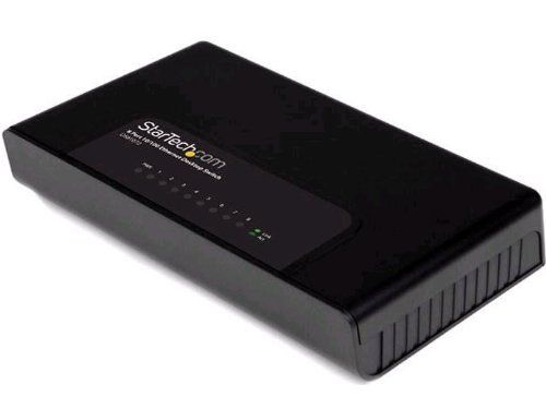 StarTech.com 8 Port Fast Ethernet Switch for 10/100 Desktop Wall Mount Network Switch and 10/100 Desktop Switch (DS81072) by StarTech. $20.88. Connect and network up to 8 Ethernet devices through a single 10/100 Mbps desktop switch. The DS81072 8-Port Ethernet Network Switch enables up to 8 users to share files and devices (e.g. printers, scanners) over a LAN connection, by expanding an existing network's capacity with additional ports. Compatible with both 10Base-T (10 Mbps) and...