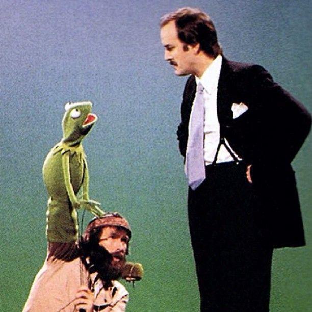 Kermit, Jim Henson, and John Cleese