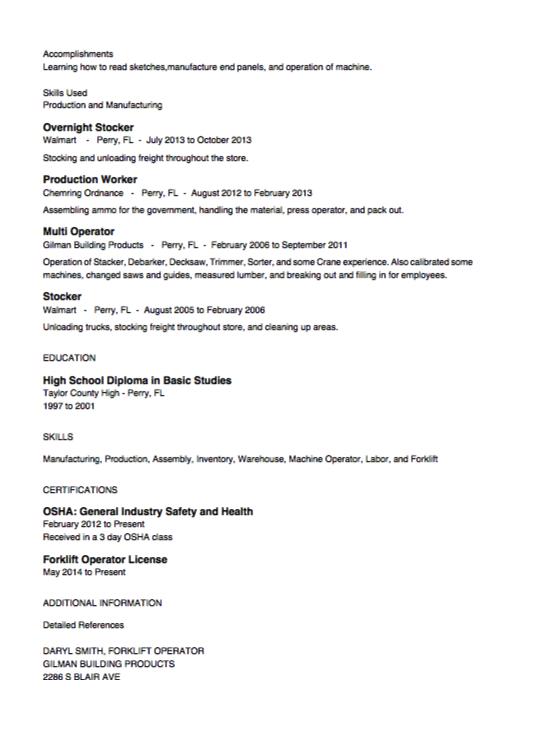 Stocker Resume Example Free Resume Sample Resume Examples Security Resume Resume