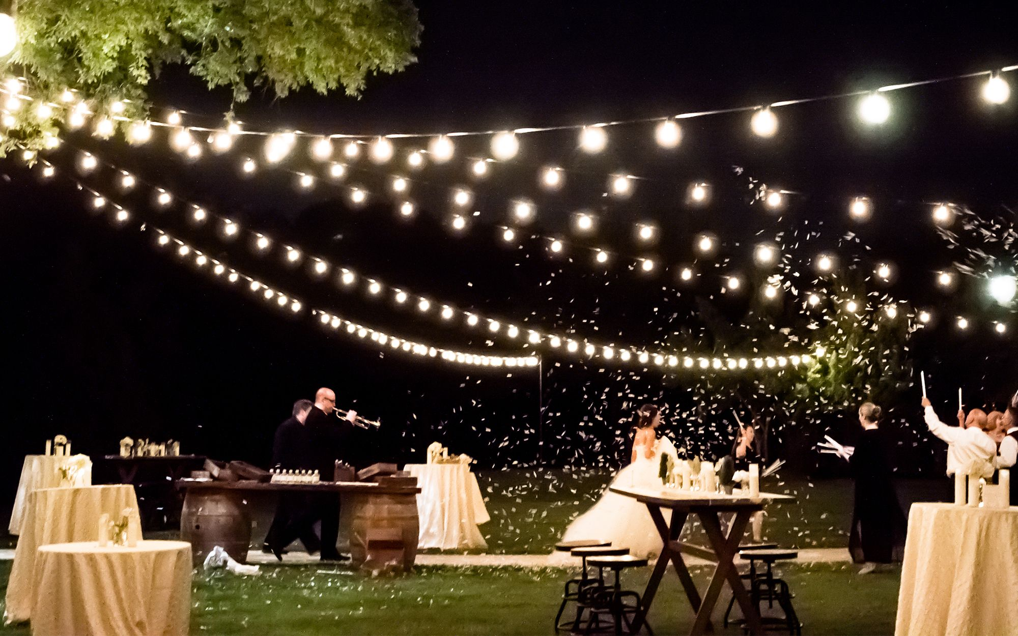 Cafe Lights Wedding