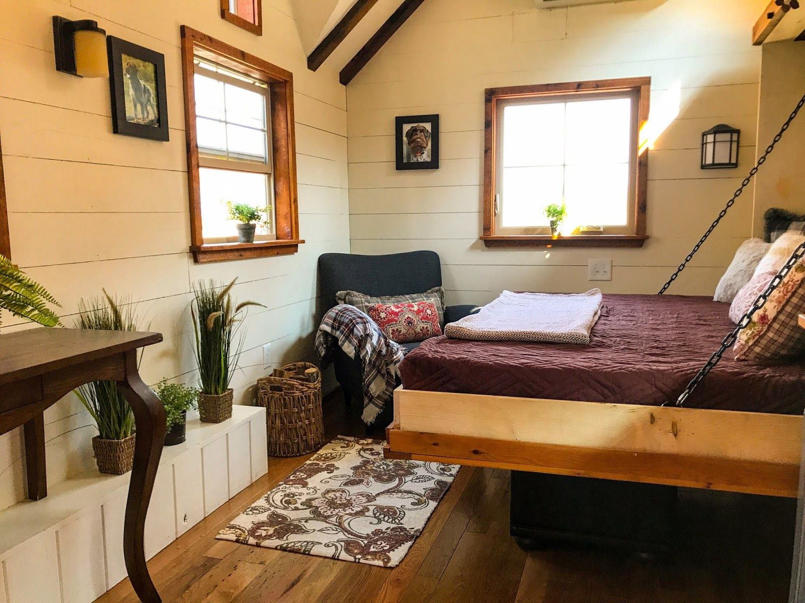 Bedroom interior roof this is the highland home itus a ft wide by ft long tiny home