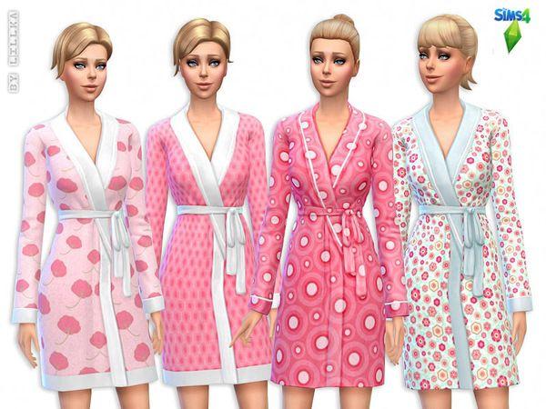 The Sims Resource: Cute Pink Bathrobes Set by Lillka • Sims 4