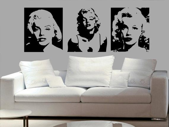 3set Of Marilyn Monroe Sexy Decal Living Room Bed Room Dining Room Decal  Wall Mural Home Decor Decal Vinyl Sticker