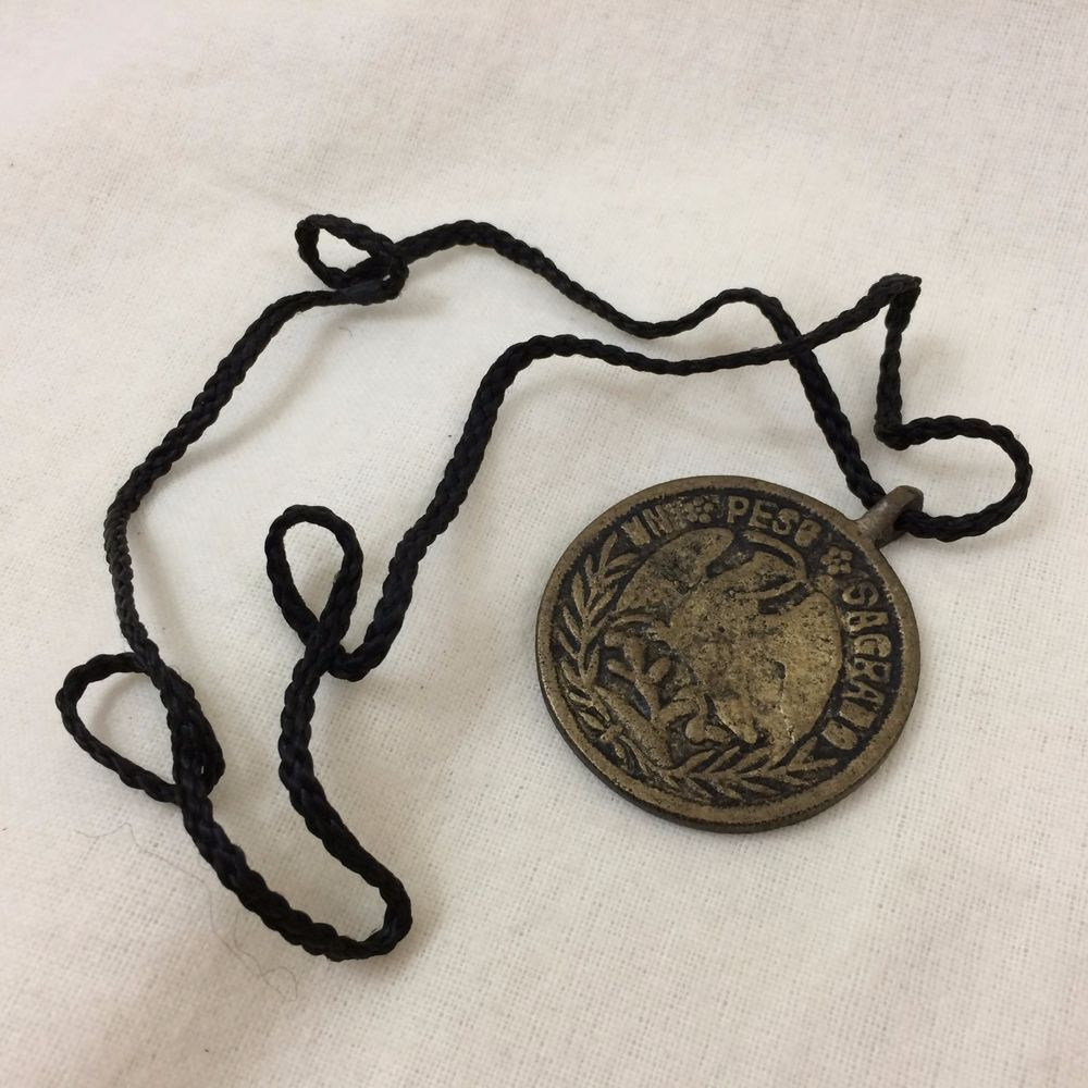 Vintage PHILIPPINE FILIPINO Amulet on Cord ANTING ANTING