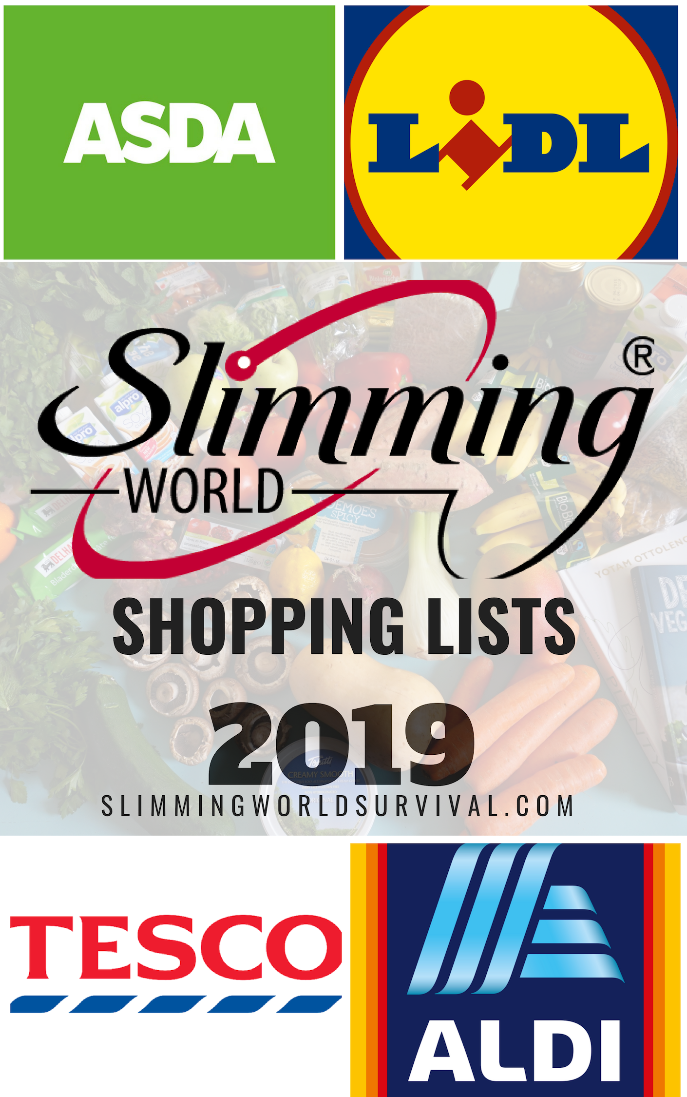 Slimming World Shopping Lists 2019 At  find the most up to date list of slimming world shopping lists for Aldi Lidl Tesco Iceland Asda and many more Click the pin to star...