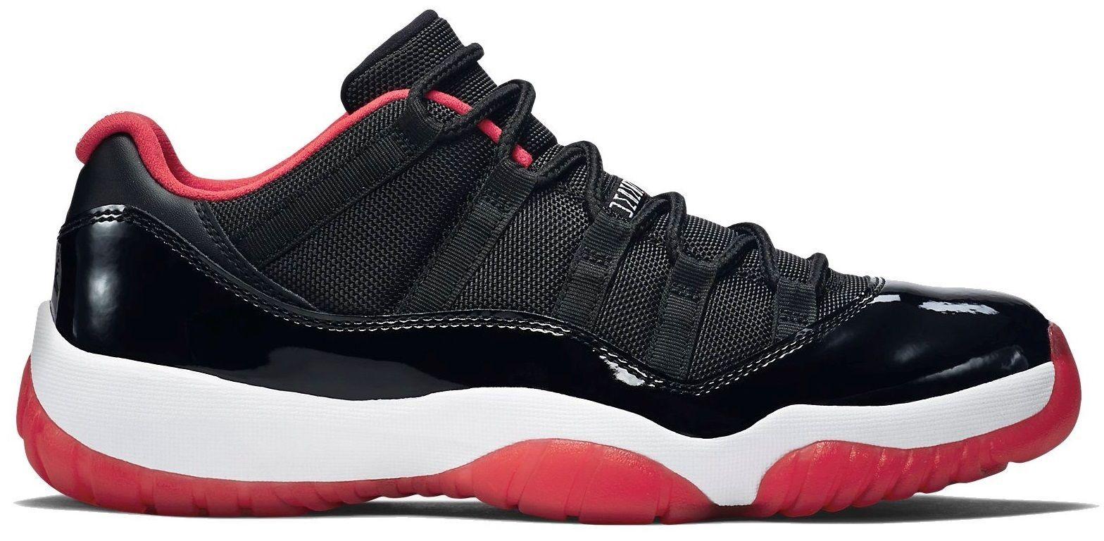 b6e3ba763d26a2 Nike Air Jordan 11 XI Bred Low Retro True Red Black 528895 012 ...